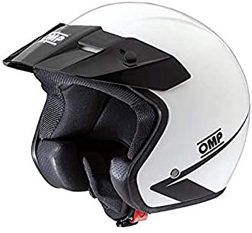 OMP OMPSC607E020L Cascos, Blanco, Talla L