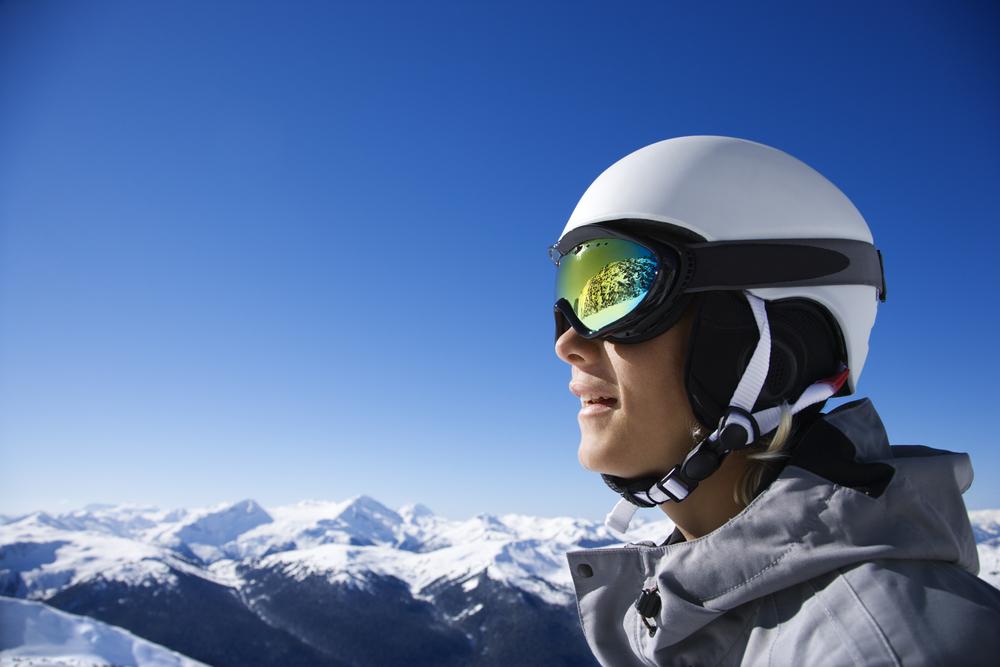 casco esqui gafas incorporadas